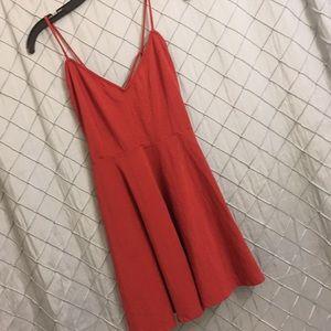 Short, spaghetti strap, flowing dress